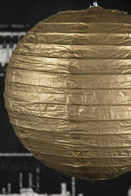 "METALLIC GOLD 8""  Paper Lanterns"