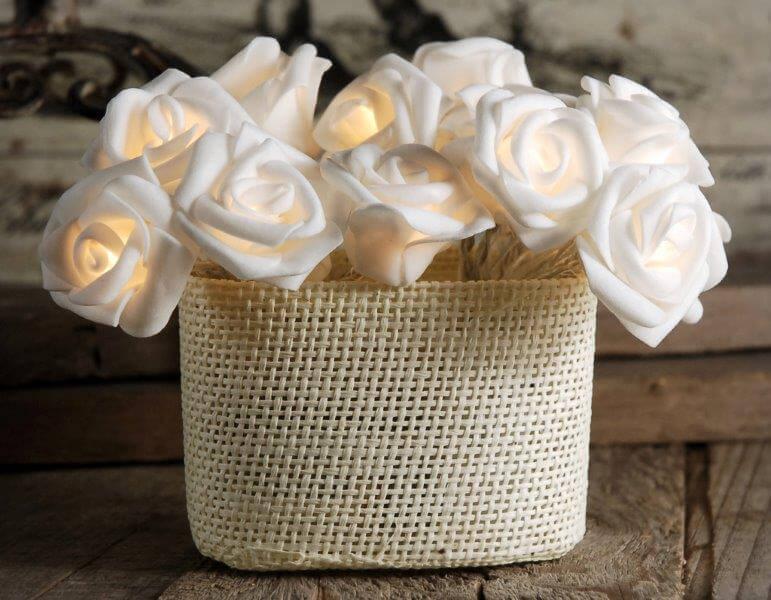 Rose String Lights Led In Warm White