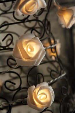 Rose String Lights LED in Warm White