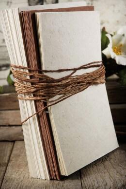 Hemlock Seeded Handmade Paper Wedding Invitation Kit, Lotka Paper