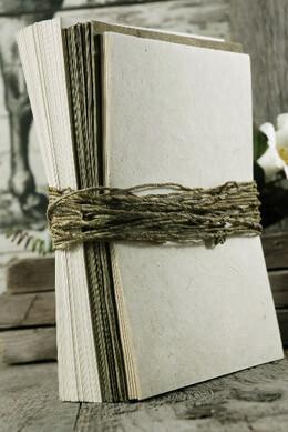 Aspen Seeded Handmade Paper Wedding Invitation Kit,  25 invitation