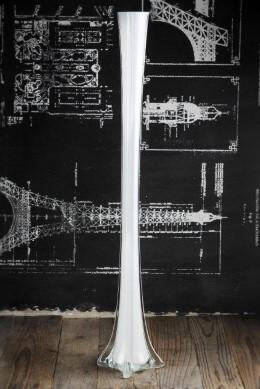 White Eiffel Tower 27 Inch Vases