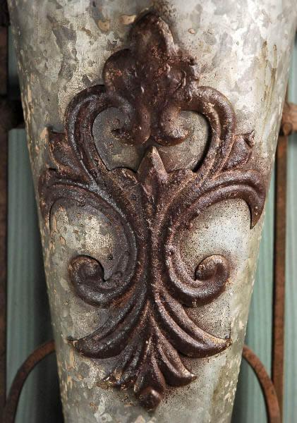 Wall Vase Metal Flower Bucket