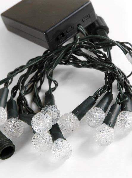 Blue LED String Lights Battery Operated