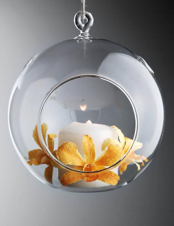 2 Flat Bottom 5 Quot Hanging Glass Balls