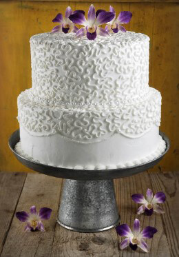 Galvanized Metal Cake & Dessert Stand 12 x 6