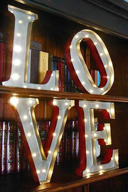 Marquee LED Metal Love Sign