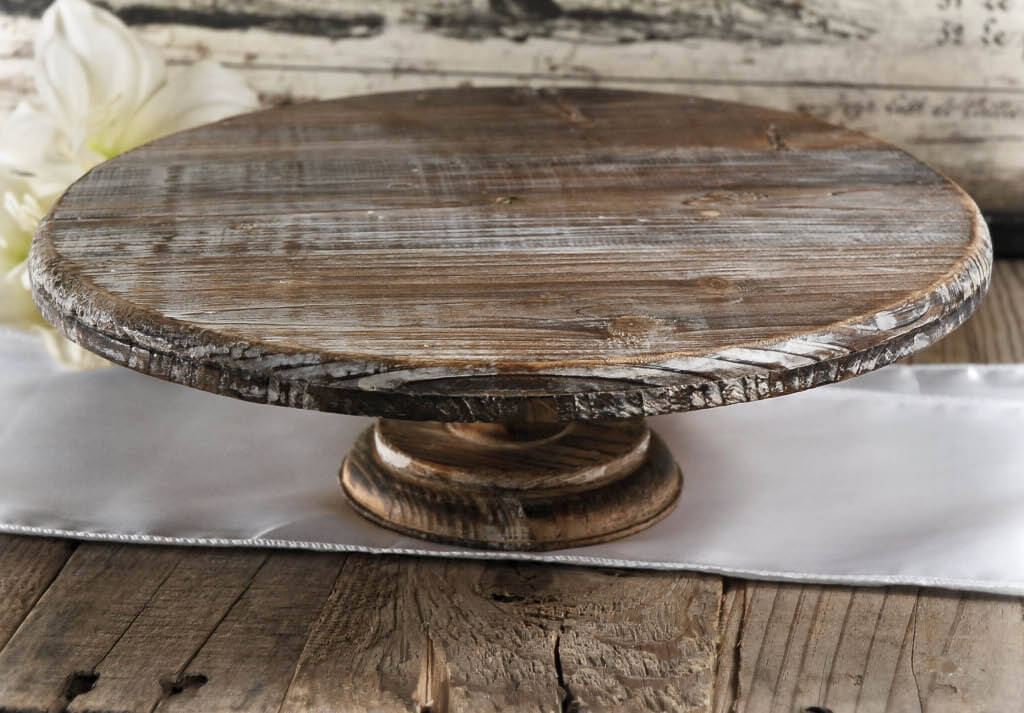 Rustic Wedding Wood Cake Stand: Wood Cake Base. Walnut Hollow Basswood Country Round
