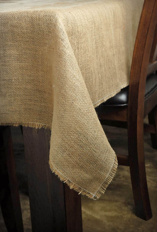 Burlap Square Tablecloth