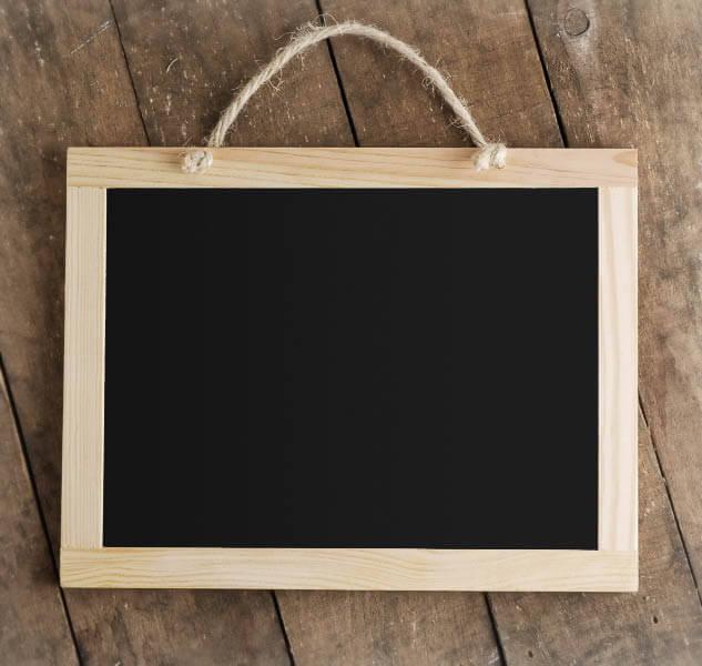 hanging wood framed chalkboard 85 x 11 - Wood Framed Chalkboard