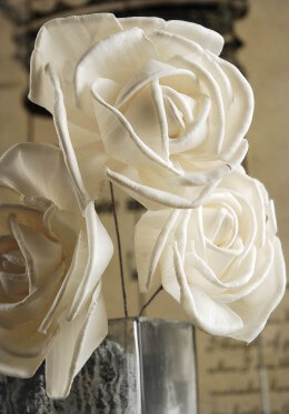 Sola Flowers Roses on Wire Stems 3in 3 flowers