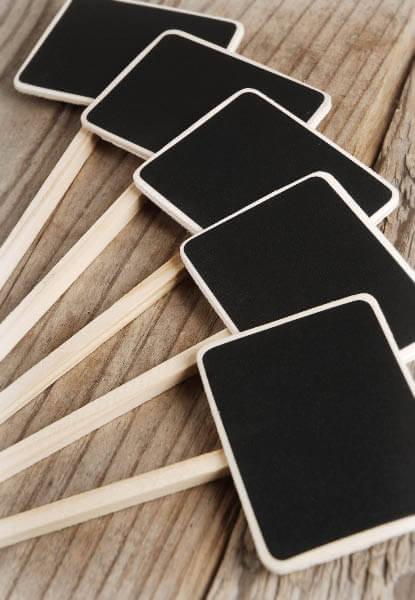 Small Chalkboards on stake (Set of 5)