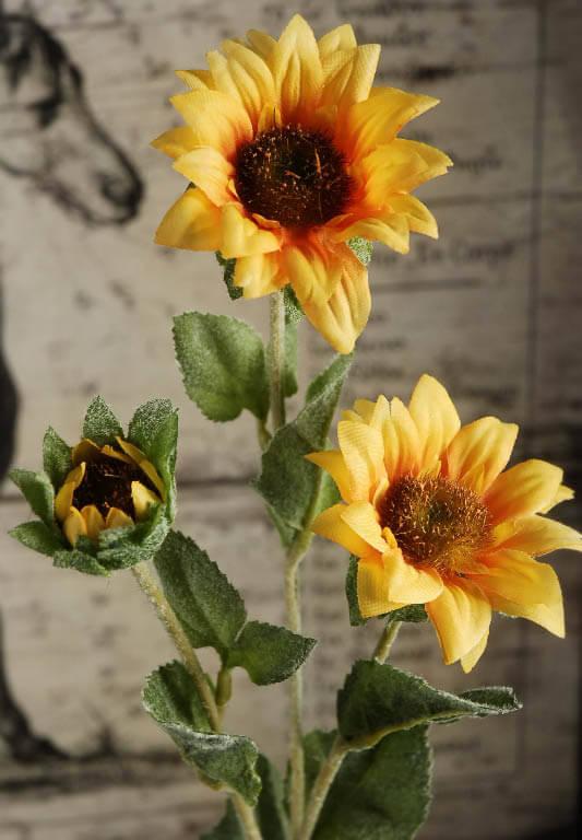 Sunflower Spray 25in