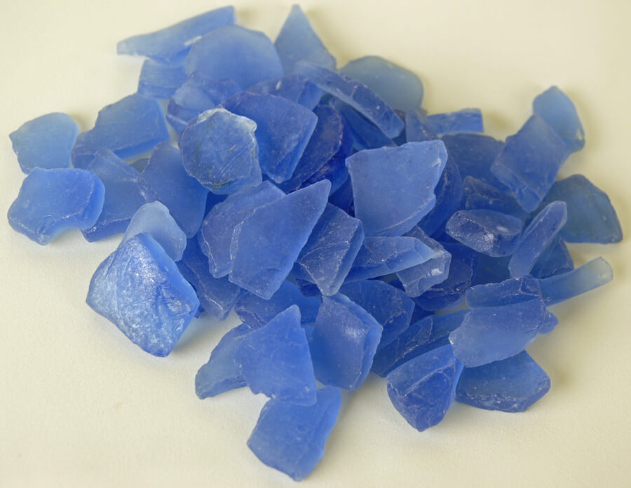 Beach Glass  Frosted Sky Blue 3 lbs