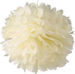"4 Tissue Paper Pom Poms 8"" Beige"