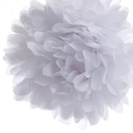 """4 Tissue Paper Pom Poms 8"""" White"""