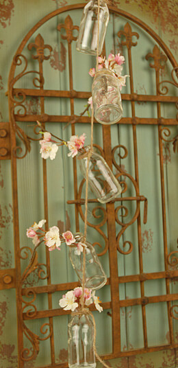 Cylinder Glass Bottle Garland