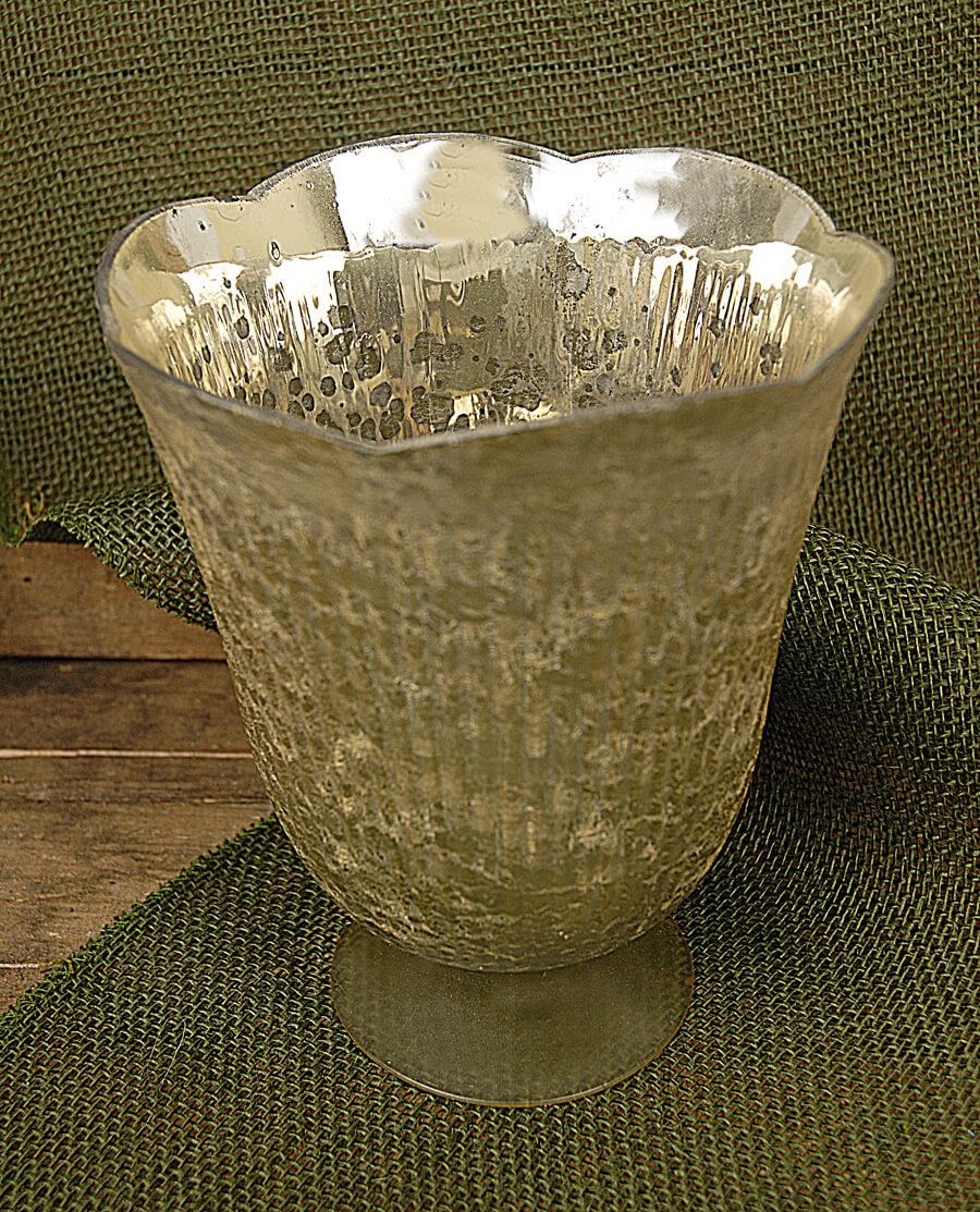 Antique Gold Neeta Vase 8.25in