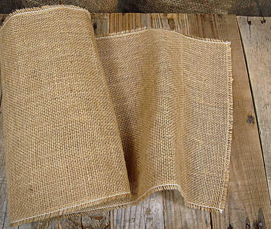 Burlap Table Runner 120in