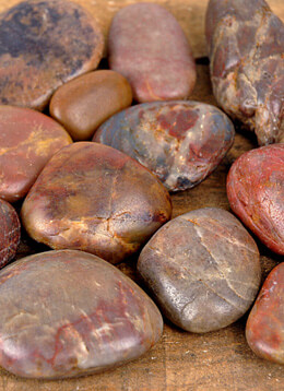 River Rocks 2 lbs  Rust, Brown & Sienna Polished