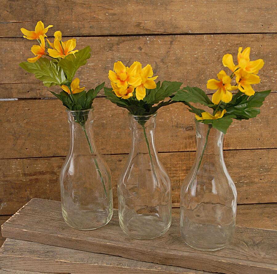Glass bud vase clear 12 carafe vases bottles clear glass 65 reviewsmspy