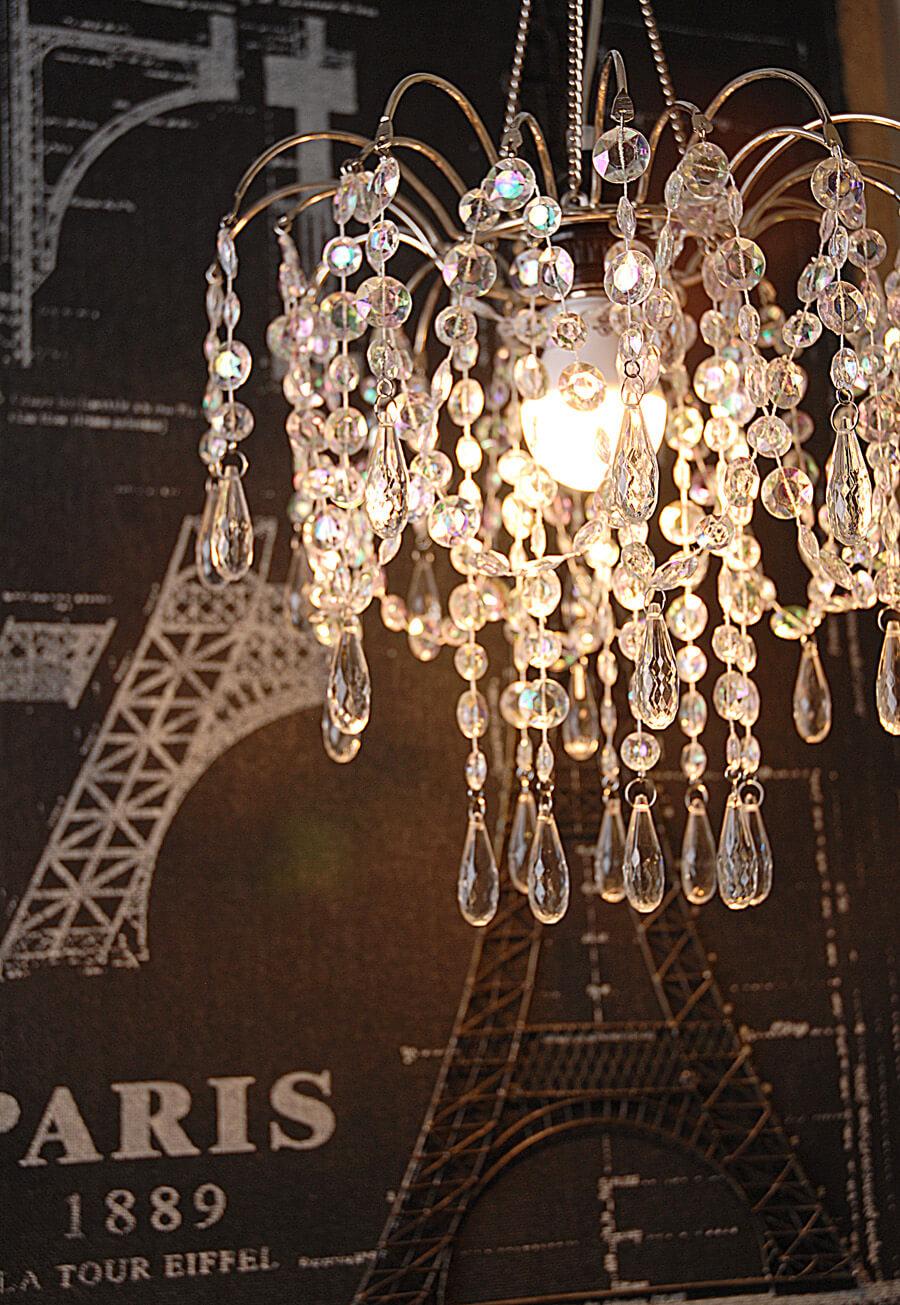 Iridescent Acrylic Chandelier 12in