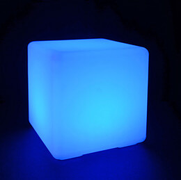 Cordless LED Light Cube 16in