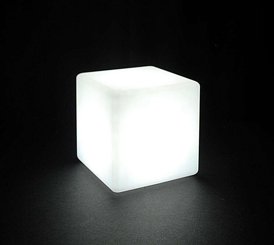 Waterproof LED Rainbow Lighted 8x8 Cube Remote Four Modes Rechargable