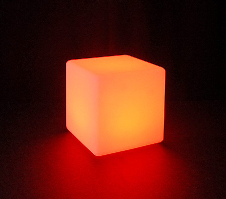 Waterproof Led Rainbow Lighted 8x8 Cube Remote Four