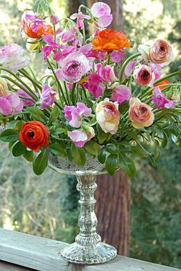 "Silver Desiray Compote Vase 8 ""x 9.5"""