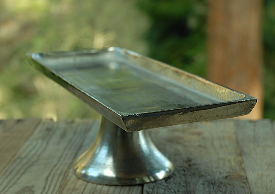 """15"""" Long Metal Pedestal Tray"""