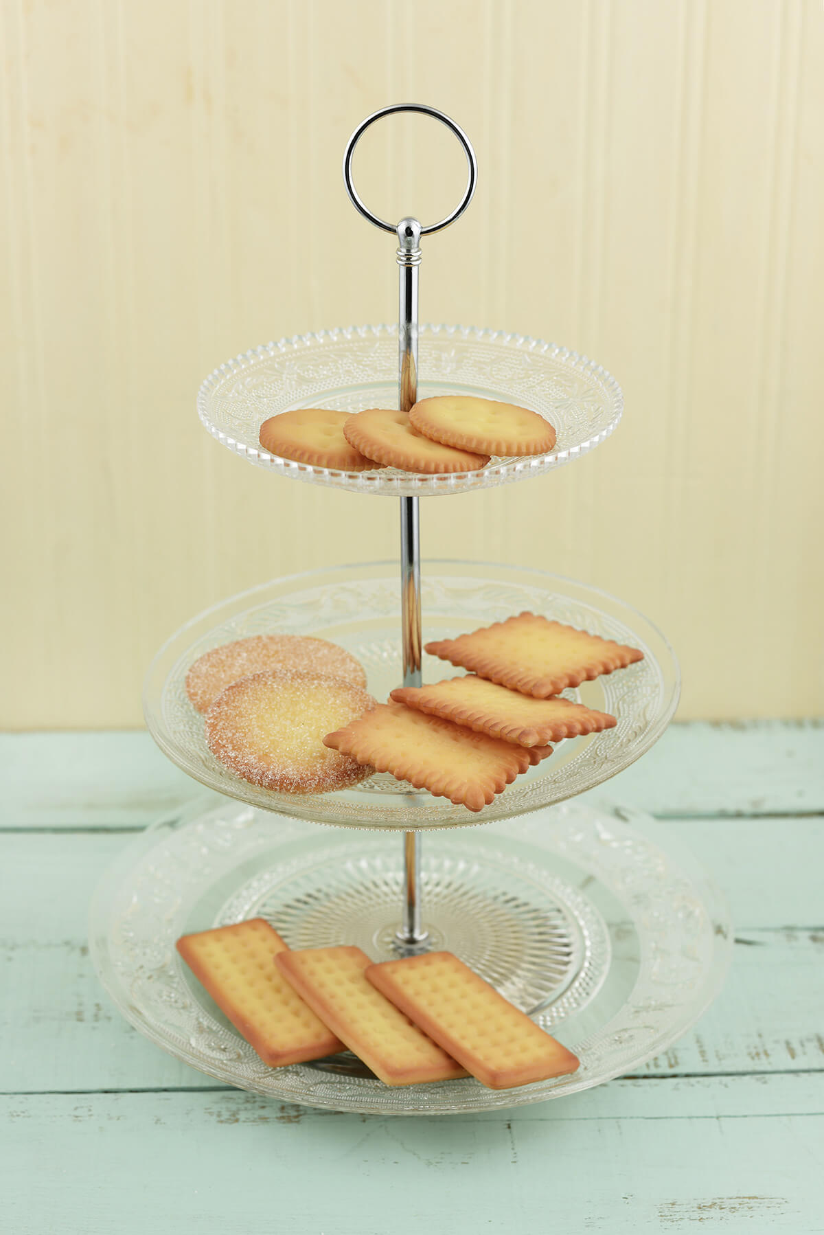 "3-Tier Glass Dessert Display Tray 14"""