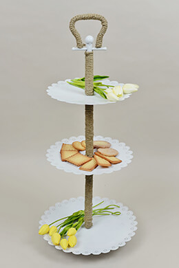 3-Tier Stand White 29in
