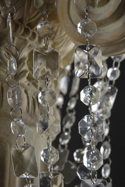 Emerald Cut Crystal Garlands 30