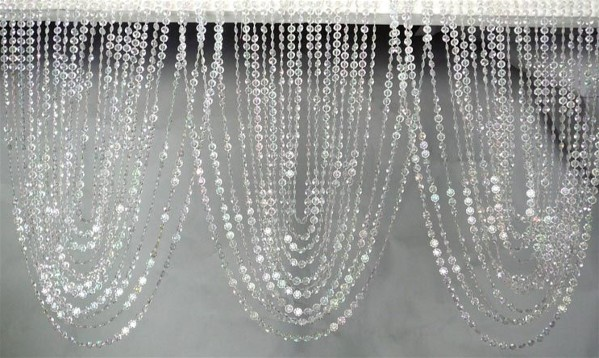 Crystal Swag Valance With 66 Garlands 35in