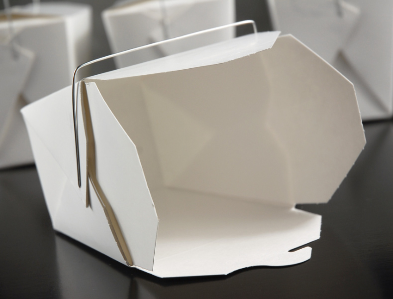 "50 Large White Take Out Boxes 4""  26 oz"