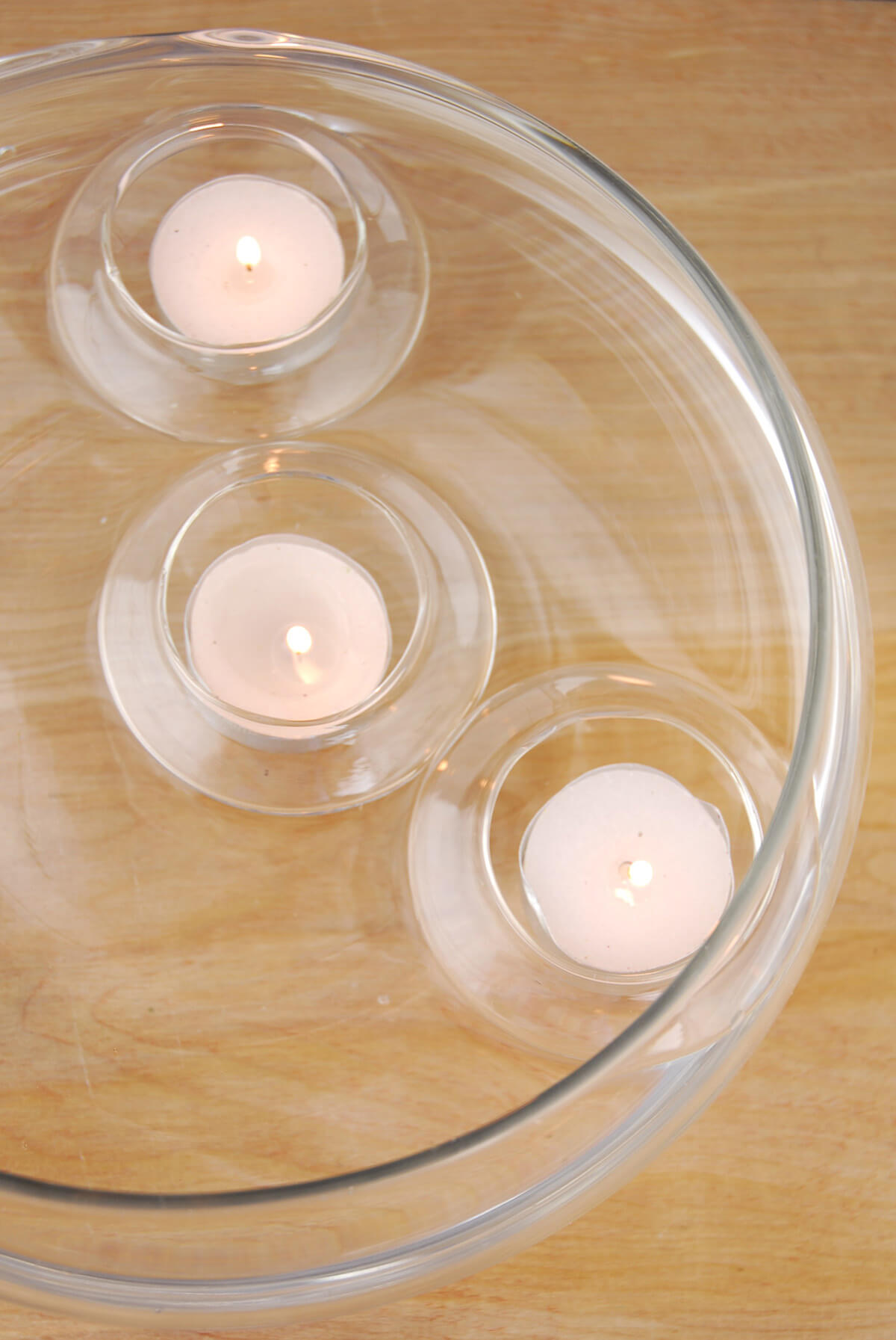 Floating Glass Tealight Candle Holders (12 pcs)
