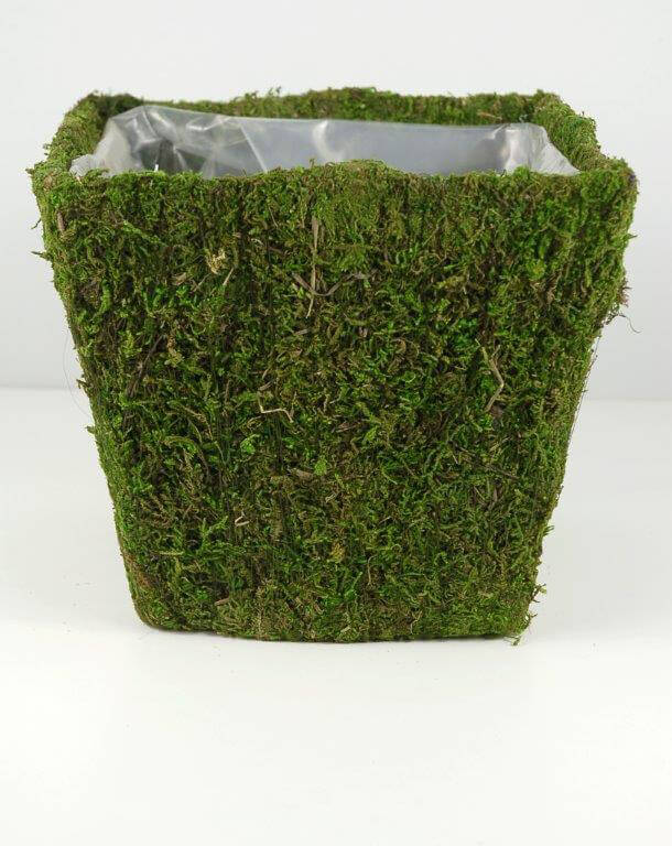 Moss Covered Flower Pot Planter Square 8 Square X 7 Quot Tall
