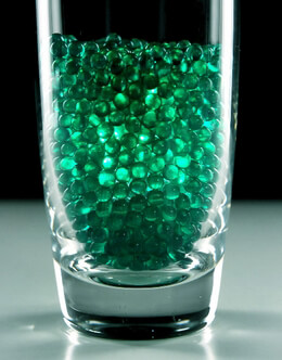 4mm Green Pearl Glass Vase Gems 1 lb.