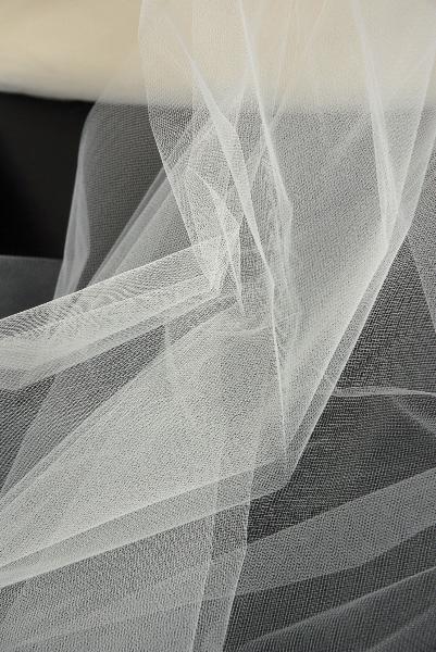 "54"" Wide Ivory Tulle Bridal Illusion 50yds (.65 /yard)"