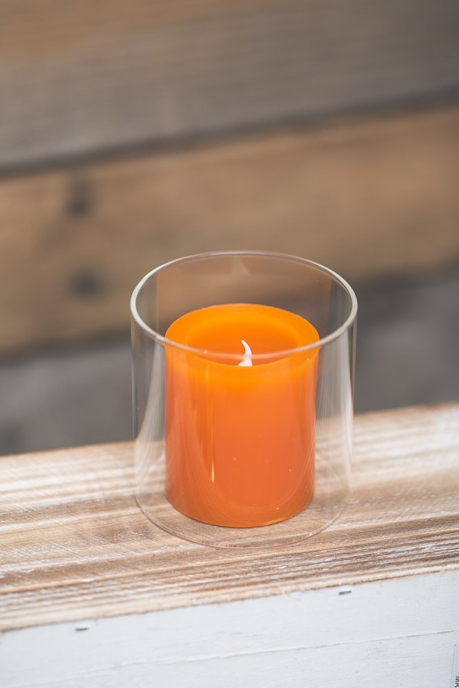 Richland LED Votive Candles Orange Set of 12