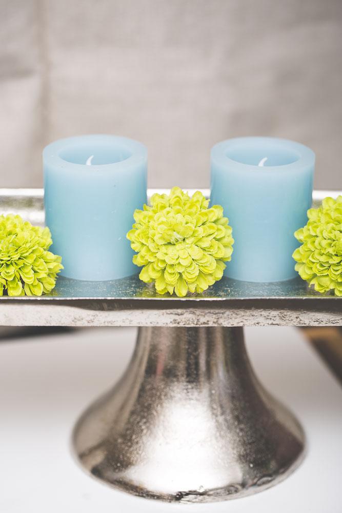 Richland LED Votive Candles Light Blue Set of 12