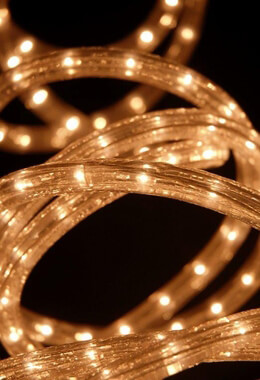 Rope Lights Clear 20ft Warm White, 18 Feet, Plug In
