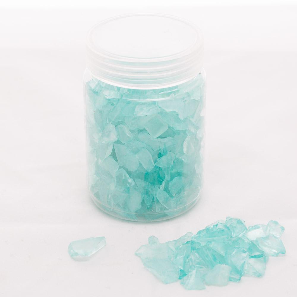 Richland Glass Pebble Vase Filler Blue