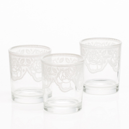 Richland Peony Lace Votive Holder Set of 12