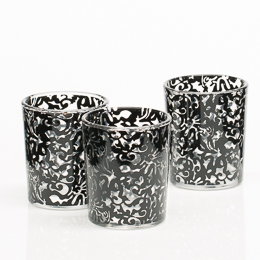 Richland Black Lace Votive Holder Set of 12