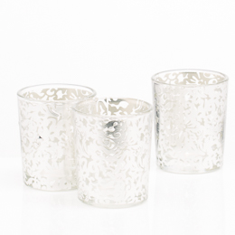 Richland Silver Lace Votive Holder Set of 12