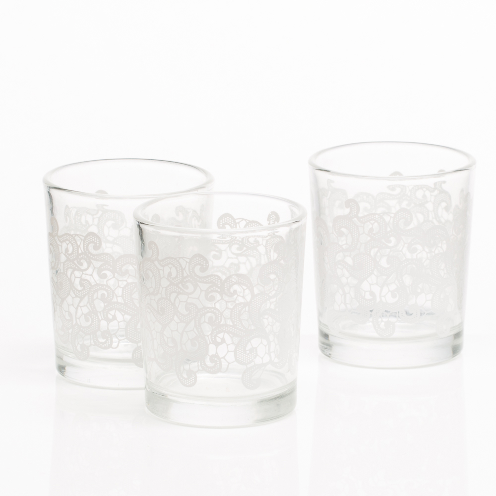 Richland Clouds Lace Votive Holder Set of 12