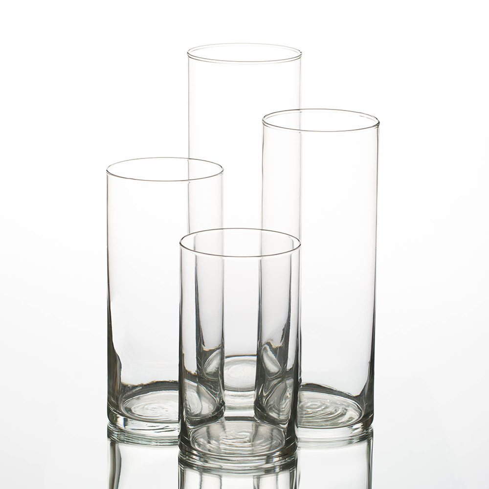 "Eastland Cylinder Vases 6"", 7.5"", 9"" & 10.5"" Set of 4"