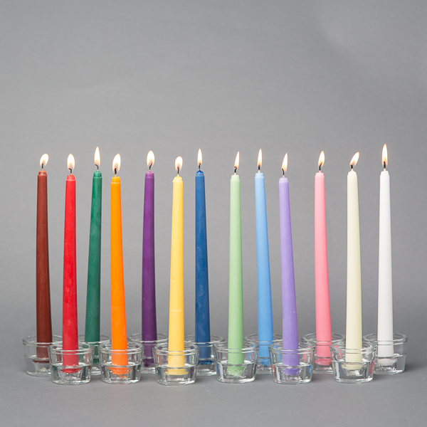 "Richland Taper Candles 10"" Set of 10"